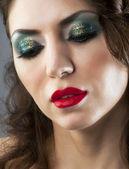 Glamor young brunette girl portrait — Stock Photo