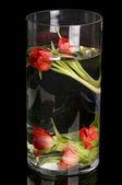 Tulips in goblet — Stock Photo