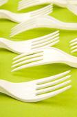 塑料叉子 — 图库照片