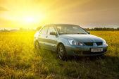 Auto in veld — Stockfoto