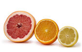 Grapefruit, orange and lemon — Stock Photo