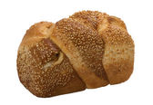 Loaf of fresh wheat bread — Stock Photo