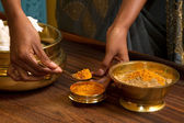 Traditional indian ayurvedic massage — Stock Photo