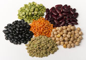 Different species of legumes — Stock Photo