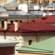 Metallic roofs different colors — Stock Photo