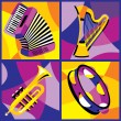 Stock Vector: Musical Instruments