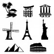 Icons travel - Image vectorielle