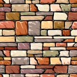 Color stone wall - Stock Vector