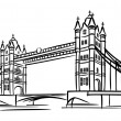 Stock Vector: Tower Bridge