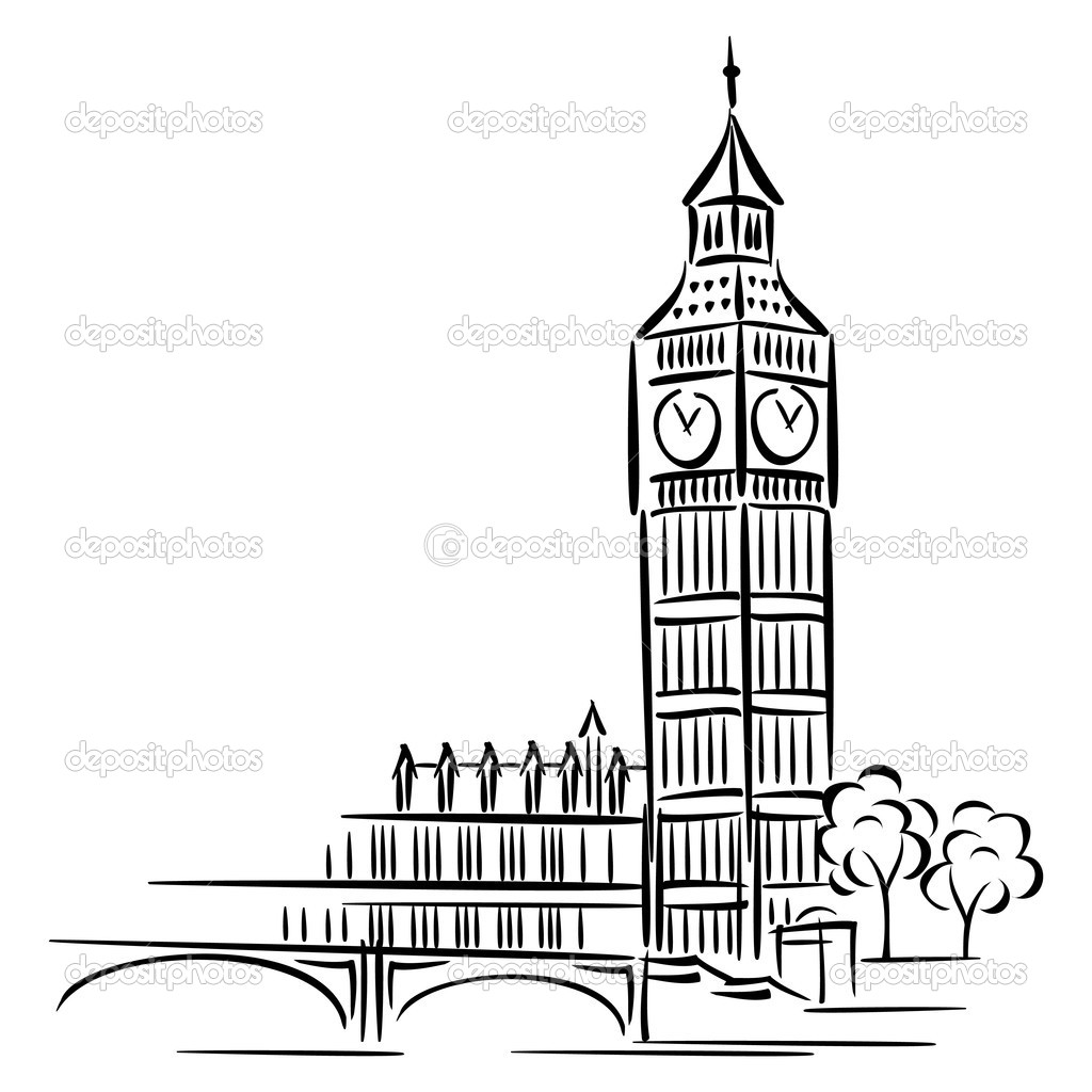 Vector images of Big Ben in London — Stock Vector #5756208
