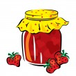 Jar of jam - Stock Vector