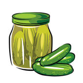 сanned pickles — Stock Vector