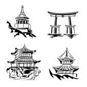 Asian temple — Stock Vector
