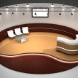 Exhibition stand 3D rendered illustration — Stock Photo