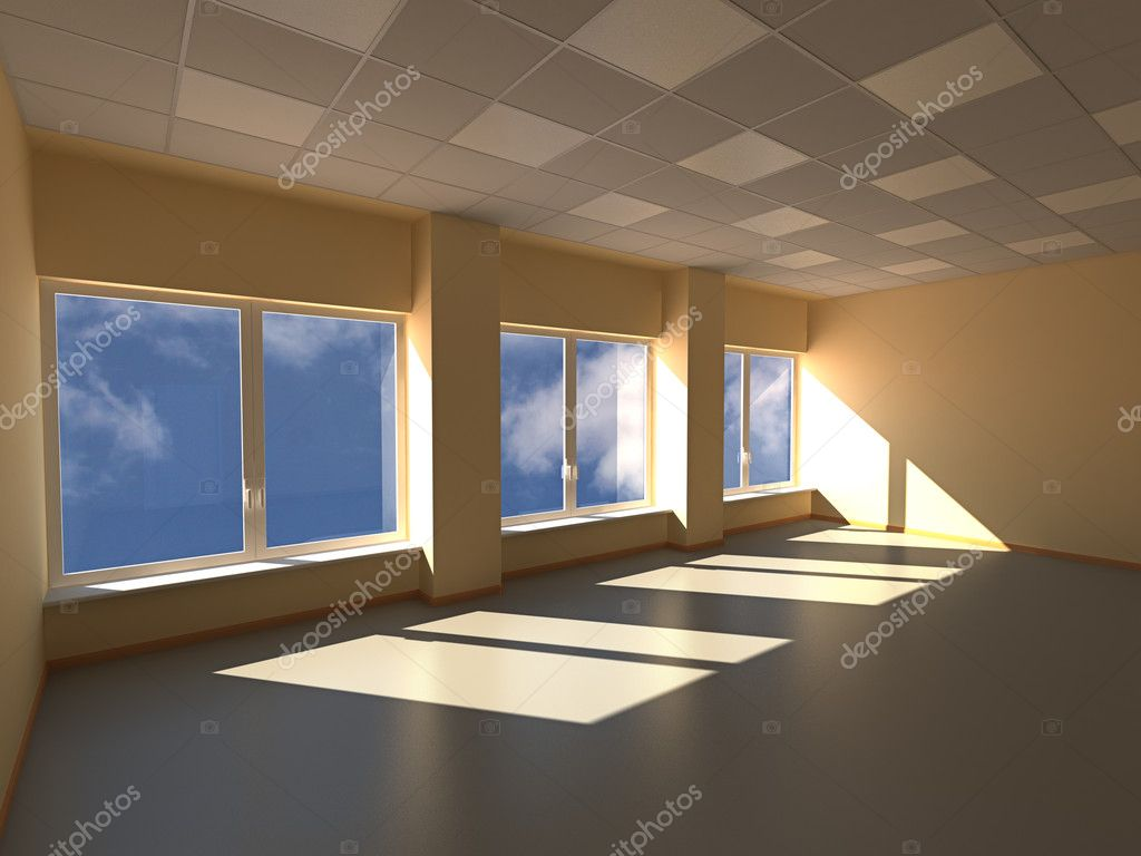 Empty room 3D render image — Stock Photo #5799257