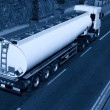 Truck With Fuel Tank, Monochromatic — Stockfoto