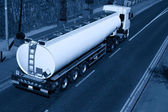 Truck With Fuel Tank, Monochromatic — Stock Photo