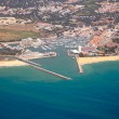 aerial view of vilamoura — Stock Photo