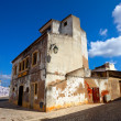 Old building in algarvian town - 图库照片