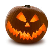 Zucca di halloween, isolato — Стоковое фото