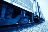 Train in motion, detail, Monochromatic — Stock Photo