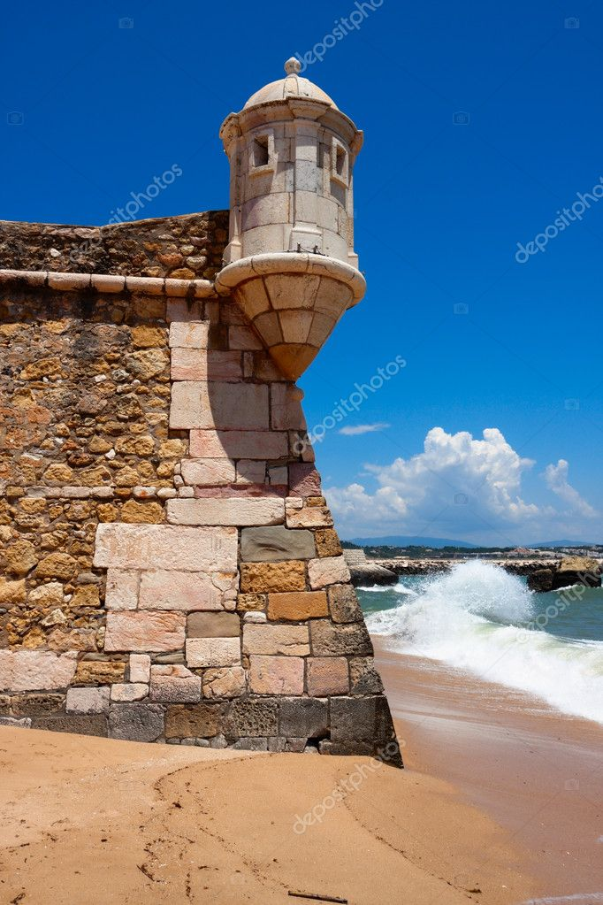 Fortress Ponta da Bandeira, detal, in Lagos, Algarve, Portugal — Stock Photo #5991965