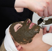 Seaweed beauty mask — Stock Photo