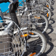 Bikes for rent in the city — Stock Photo