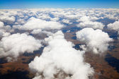 Aerial view of white clouds — Stock Photo