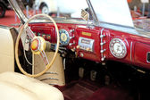 An interior of the retro old car — ストック写真