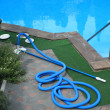 Swimming pool cleaning equipment — Stock Photo