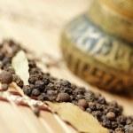 Close up of black peppercorns — Stock Photo