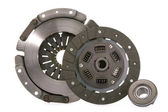 Spare parts of motor vehicle forming clutch plate and disc. — Stock Photo