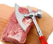 Filet steaks on the board — Stock Photo