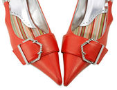 Shoes red women — Stock Photo