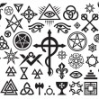 Medieval Occult Signs And Magic Stamps - Stock Vector