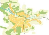 Mappa vettoriale semplificato della città ii — Vettoriale Stock