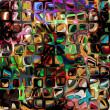 Stock Photo: Art colorful ornament grunge background