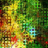 Kunst floral sieraad grunge achtergrond — Stockfoto