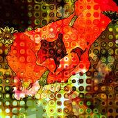 Kwiatowy graficzne tło — Zdjęcie stockowe