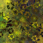 Art floral ornament grunge background — Foto Stock