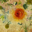 Royalty-Free Stock Photo: Art floral vintage colorful background
