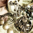 Art jewelry vintage background — Stock Photo
