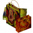 Art colorful paper bags set - Stock Photo