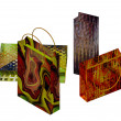 Art colorful paper bags set — Foto Stock