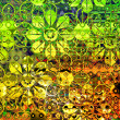 Art floral ornament grunge background — Stockfoto