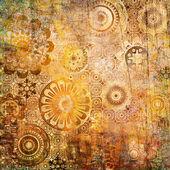 искусство растительный орнамент гранж-фон — Стоковое фото