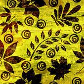 Art grunge floral vintage background — Stock Photo