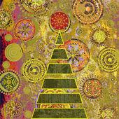 Art christmas tree — Stock Photo
