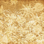 Art vintage floral hand drawing background — Stock Photo